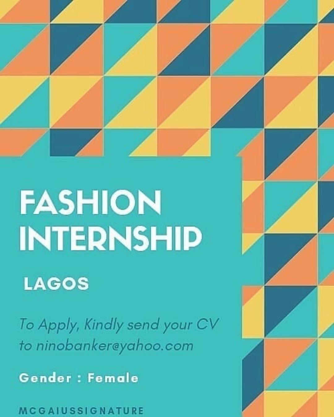 Female Needed For Fashion Internship Amx
