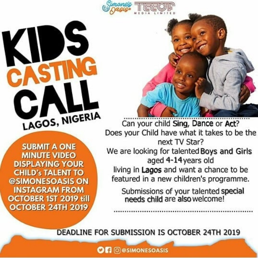 Online Casting Call For Kids Age 4 14 Amx